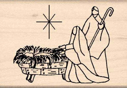 - Stamps by Impression Christmas Nativity Rubber Stamp