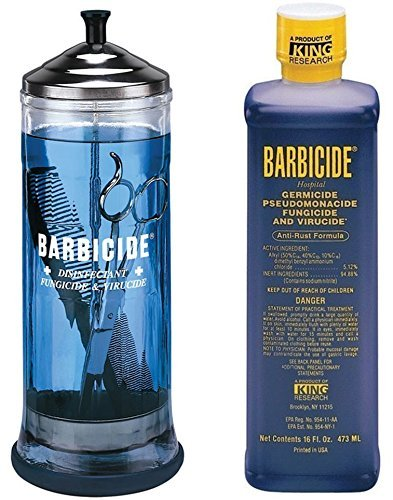 Barbicide disinfectant Jar, Solution 473ml For Salon Spas Medical Athletic Tools CODE: BRE 6 by Barbicide (Barbicide Disinfectant Jar compare prices)