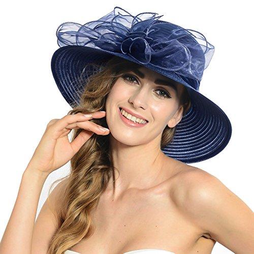 HISSHE Kentucky Derby Church Dress Wedding Hat