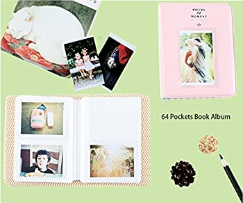 SAIKA Camera Accessories Bundle [Mini 9 Case+Album+Selfie Lens+Filters+Wall Hang Frames+Film Frames+Border Stickers+Shoulder Strap] for FujiFilm Instax Mini 9 8 8+ Instant Camera-Flamingos