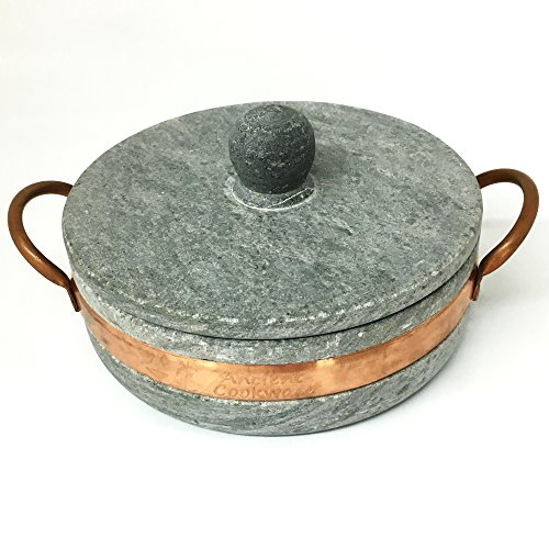 Brazilian Soap Stone Low Pot - Panela de Pedra