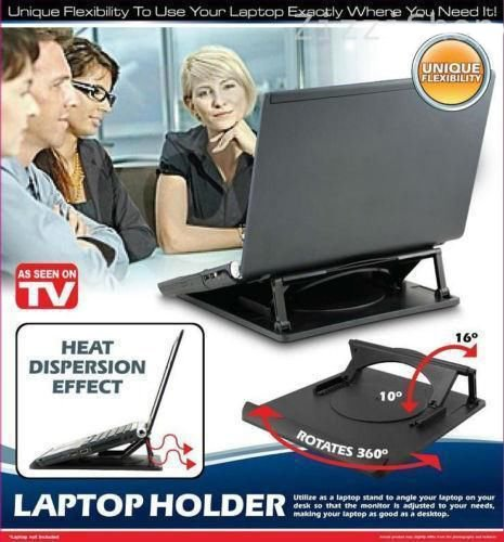ADJUSTABLE LAPTOP HOLDER WITH 360 SWIVEL BASE zizzi J0187a
