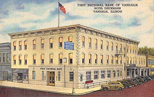 Vandalia Illinois 1St Natl Bank Hotel Dieckmann Linen Antique Pc Z41481