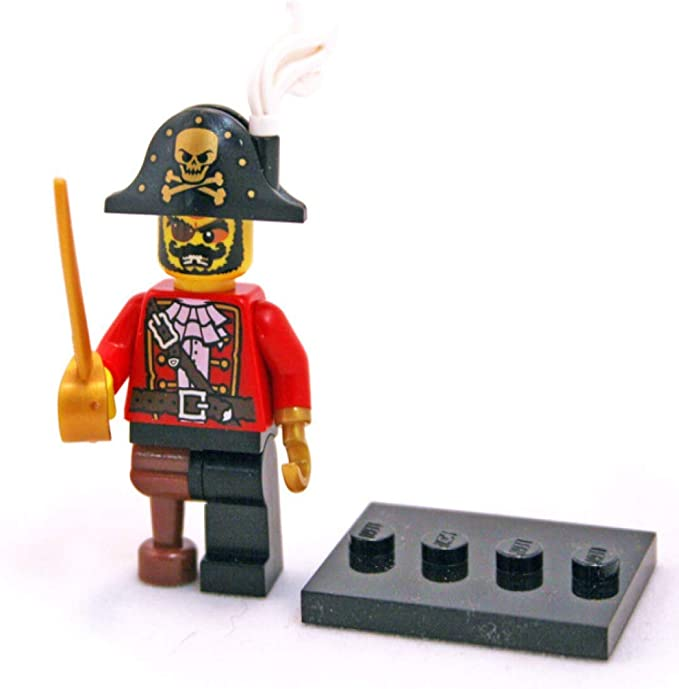 Lego girl pirate minifigure with sword and gun