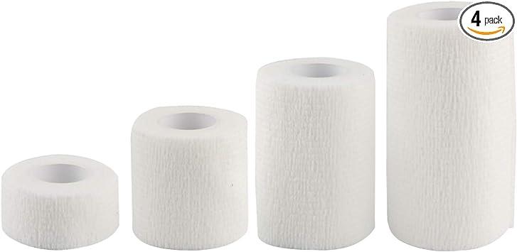 Larcele Self-Adhesive Bandage 4 Rolls of Different Sizes of Different Sizes Cohesive Wrap Bandaging Tape ZZTXBD-04 Purple