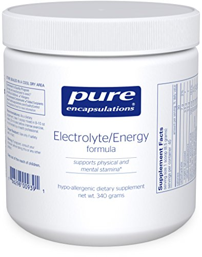 Pure Encapsulations - Electrolyte / Energy Formula - Hypoallergenic Supplement to Support Physical and Mental Stamina* - 340 Grams