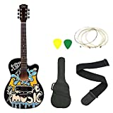 Zabel ZBTR10 Acoustic Guitar With Truss Rod Combo With Bag, Strap, One Pack Strings And 3 Picks