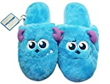 Disney Pixar's Monsters Inc. Sulley Face Furry House Slippers (10.5 Men)