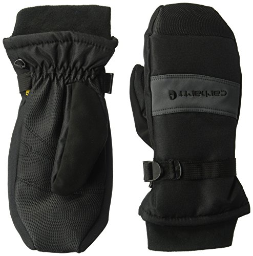 Carhartt Men's Waterproof Mittens, black/Grey, Large