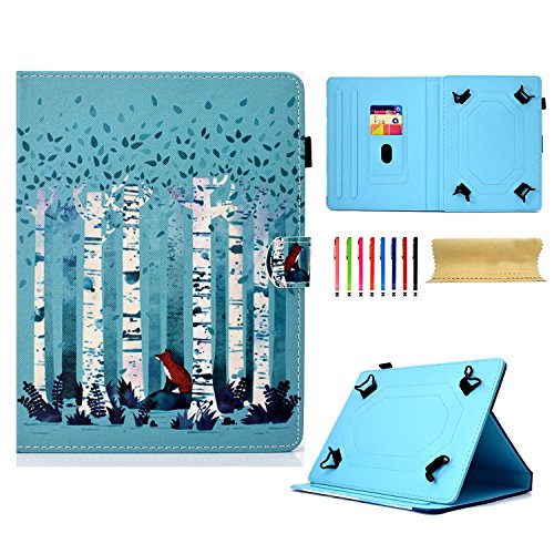 Uliking Universal Case for 7-8 inch Tablet, PU Leather Folio Wallet with Stand [Stylus Holder] Card Slots Magnetic Cover for All 7.5