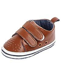 ASTV Infant Baby Boys Girls Soft Bottom Anti-Slip First Walker Velcro Toddler Shoes