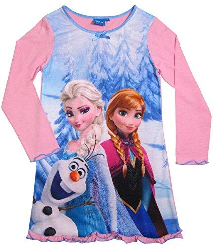Frozen Kollektion 2016 Nachthemd Die Eiskönigin 98 104 110 116 122 128 Neu Nachtwäsche Nachtrobe Disney Anna, Elsa und Olaf Rosa (122 - 128, Rosa)