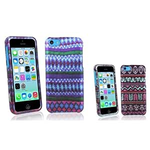 Viesrod eForCity 2 packs of Snap-in Rubber Coated Cases - African Pattern / Elegant Aztec Compatible with Apple iPhone...