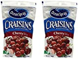 Ocean Spray Craisins Dried Canberries Cherry Juice Infused 5oz Bag, 2-bags