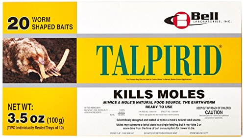 (Bell Laboratories Talpirid 7150 Mole Bait Worms, 20 Count)