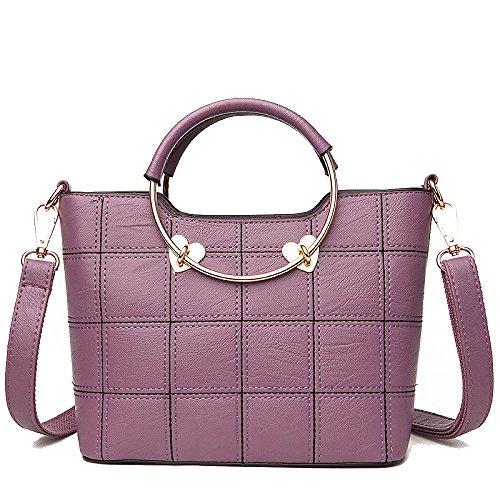 AJLBT Versión Coreana De La Moda Femenina De La Marea Del Bolso Femenino Del Bolso Del Bolso Del Mensajero Purple