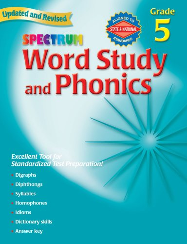 Spectrum Word Study and Phonics, Grade 5, Updated & Revised -