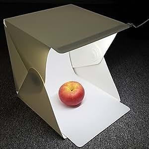 "Amzdeal Light Tent Studio Foldable Light Box Photography Kit for Amazon E-bey Jewelry Photography Reviews 9.4"" x 8.7"" x 9.4"""