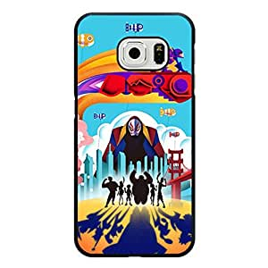 Big Hero 6 Movies Phone Case Snap on Samsung Galaxy S6 Edge Classical Unique Baymax Big Hero Theme Pattern Cover Shell