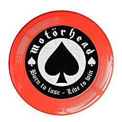 VOLTE Motörhead British Heavy Metal Rock Band Poker Red Flying-discs 150 Grams Outdoor Activities Frisbee Star Concert Dog Pet Toys