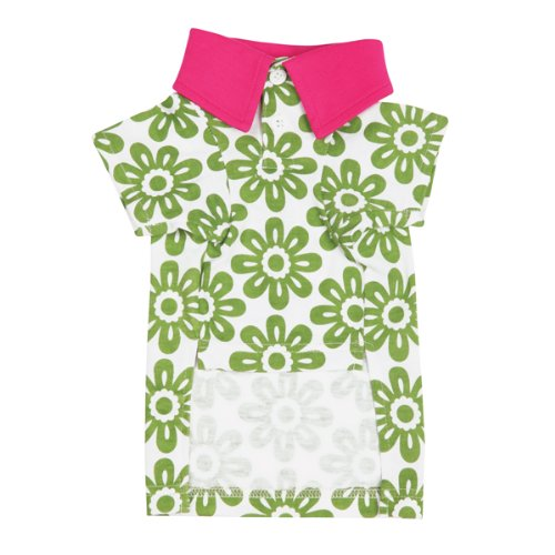 Zack and Zoey Polyester Country Club Dog Polo Shirt, Small, Green, My Pet Supplies