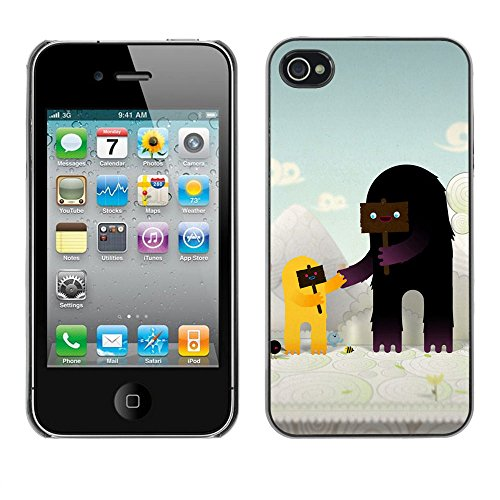 Cute Characters - For Apple iPhone 4 / 4S