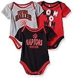 NBA by Outerstuff NBA Newborn & Infant Toronto Raptors Little Fan 3pc Bodysuit Set, Heather Grey, 24 Months