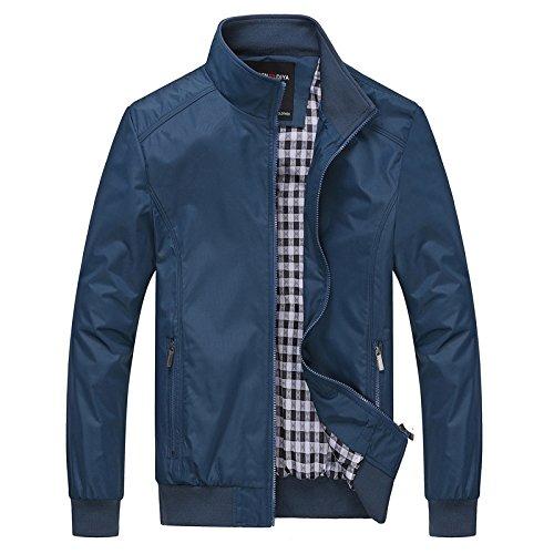 THWS Gli uomini del collare di sovrarivestimento giacca camicia di rivestimento, blu ,6XL Menswear