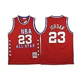 1988-89 All Star Retro Classic Red #23 Jördân Embroidery Basketball Mesh Jersey -L