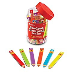 Simplify classroom management with this set of 36 Student Grouping Pencils. These durable plastic pencil-shaped organizers contain enough space to write a student's name. Group students by color, number or shape on their pencils. Packa...