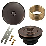 Lift and Turn Twist Bathtub Tub Drain Conversion Kit Assembly, All Brass Construction - Oil Rubbed Bronze