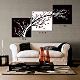 Abstract modern decorative painting hot sell canvas modern art of three pieces (no frame rolled up into the barrel)20inchx20inch #EY74