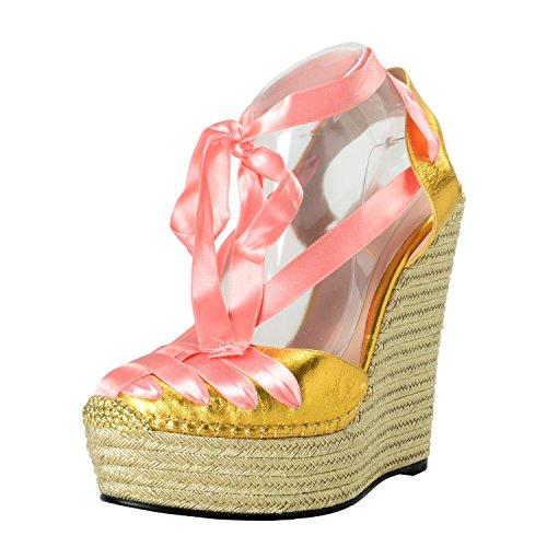 Gucci Platform Shoes (Gucci Women's Leather Wedges Sandals Shoes SZ US 7 IT 37)