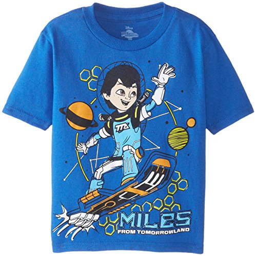 Disney Little Boys' Toddler Miles from Tomorrowland Toddler Boys T-Shirt, Royal, 4T