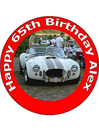7 5 Vintage 1960s Classic Cars Edible Image Cake Toppers