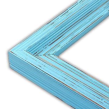 distressed cimarron aqua picture frame solid wood 8x10
