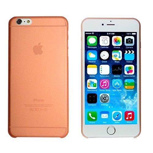 smartec24® iPhone 6 PLUS TPU SmartCover Case in orange mit Softgrip Oberfläche inkl. 1x Displayschutzfolie. 100% passgenauer kantenumgreifender Schutz