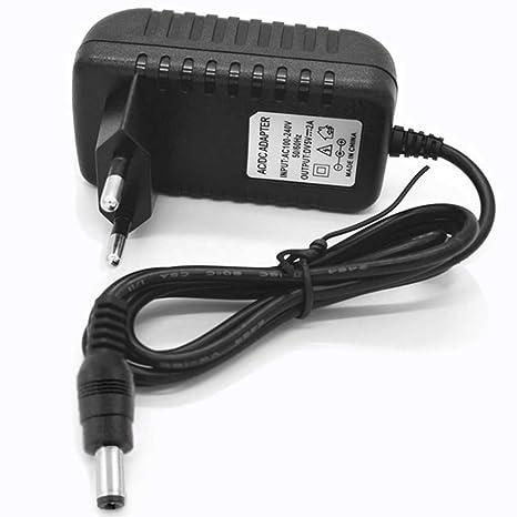 Ociodual Cargador Universal 5V 2A AC DC 2 Pines Europeo Alimentador de Pared Router Negro