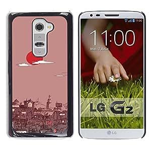 // PHONE CASE GIFT // Duro Estuche protector PC Cáscara Plástico Carcasa Funda Hard Protective Case for LG G2 / Tokio Amanecer /