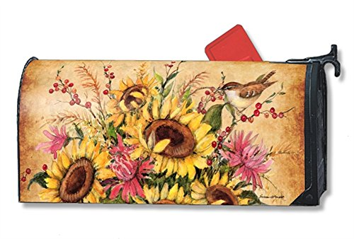 MailWraps Sunflower Mix Mailbox Cover #01197 by MailWraps