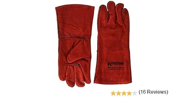 Wolfpack 15031150 Guante Soldar Denso Rojo Largo: Amazon.es: Industria, empresas y ciencia