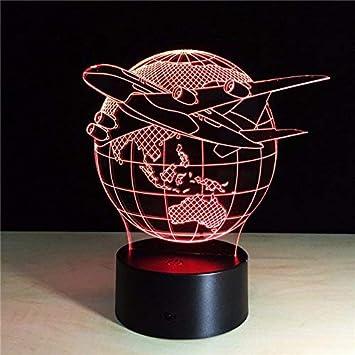 Maruc Fly Lampe Avion World Earth 3d Panneau The Globe Home Led UzVGLSMqp