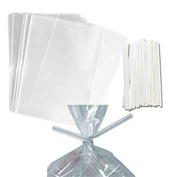 Amazon 100 Clear Treat Favor Bags Ties Included Great For