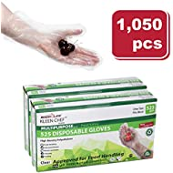 Disposable Food Handling Long Cuff Poly Gloves - One Size Fits Most, 525 per Box (2 Boxes)