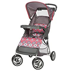 Keep your family moving with the Lift and Stroll Stroller by Cosco. The stroller lifts to fold with just one hand and a quick pull upward. It's lightweight and compact when folded, making it easy to store or take along for the ride. The infin...