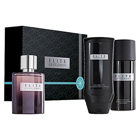 Avon Elite Caballero Eau de Toilette Set de regalo, EDT 75 ml, desodorante Body
