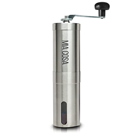Manual Coffee Grinder by Miacosa. Handheld -Portable Ceramic Precision Conical Mill