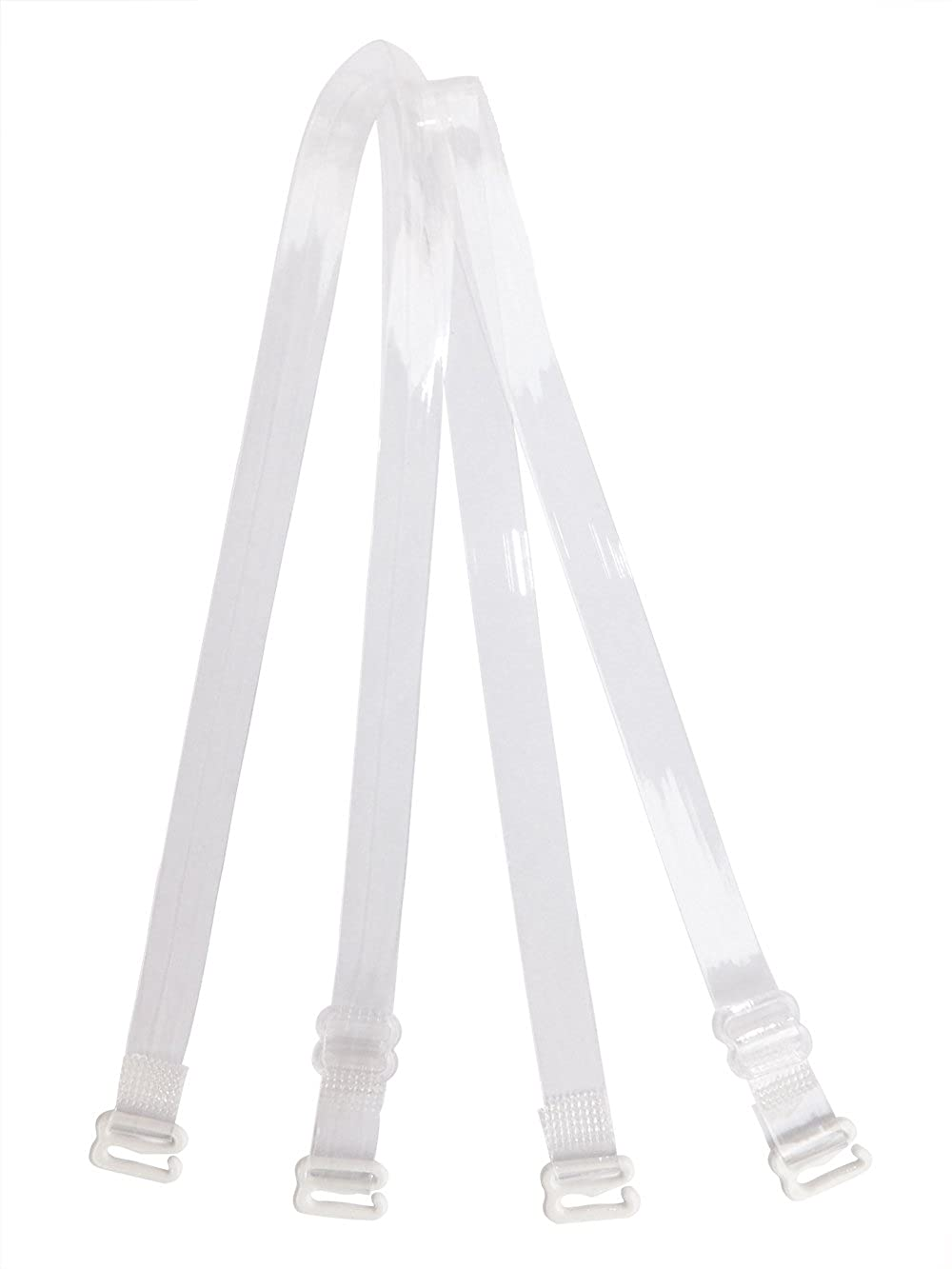 Metal Hook w//Plastic Cover Clear Invisible Bra Shoulder Strap 3//8 5//8 3//4