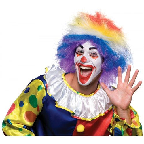 Rubie's Costume Clown Around Rainbow Wig, Multicolored, One Size