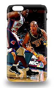 Fashion Protective NBA Indiana Pacers Reggie Miller #31 Case Cover For Iphone 6 3D PC Soft Case